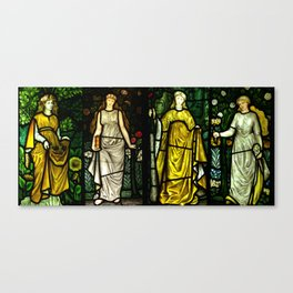 """William Morris """"Four seasons"""" (Dining Room at Cragside House, Northumberland, UK) Canvas Print"""