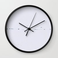 plain Wall Clocks featuring Plain by Jane Lacey Smith