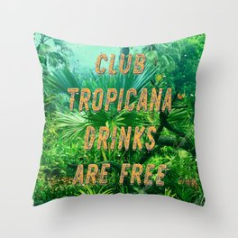 Club Tropicana #1 – A Hell Songbook Edition Throw Pillow