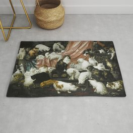 My Wife's Lovers, Carl Kahler, cats and kittens Rug