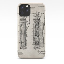 Golf Bag Patent - Caddy Art - Antique iPhone Case