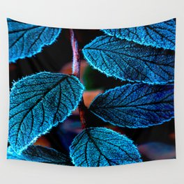 Peacock Blue Leaves Nature Background #decor #society6 #buyart Wall Tapestry