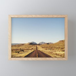 Golden Rolling Hills Road Framed Mini Art Print