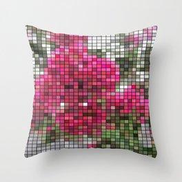 Crape Myrtle Mosaic Throw Pillow