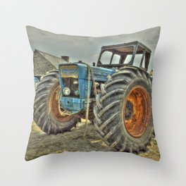 Porth Meudwy Tractor Throw Pillow