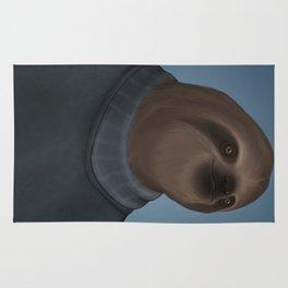 A sloth and his turtleneck Rug