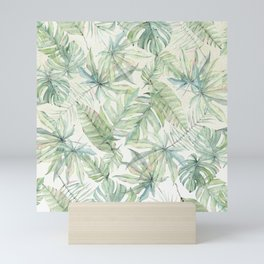 Green Tropical Leaves Mini Art Print