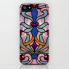 Art Nouveau Stain Glass Victorian Pastel Design iPhone Case