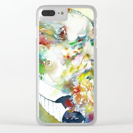 CHARLES DICKENS - watercolor portrait.2 Clear iPhone Case