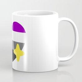 Asexual Pride Sparkling Heart Emoji Coffee Mug