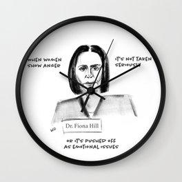 When Women Show Anger Wall Clock