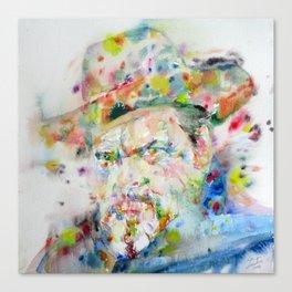 ORSON WELLES - watercolor portrait Canvas Print