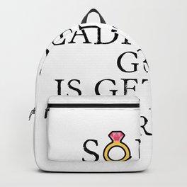 Funny Groom Sorry Ladies This Guy Is Getting Married Backpack