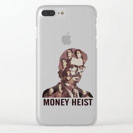 Money Heist Fanart Brown Version Clear iPhone Case