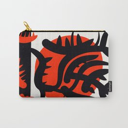 Red Japanese Sun abstract minimalist painting Carry-All Pouch