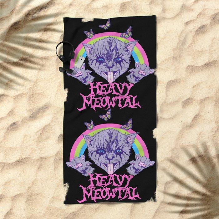 Heavy Meowtal Beach Towel