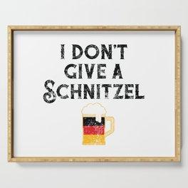 I Don't Give Schnitzel German Flag Beer Lover Oktoberfest Serving Tray