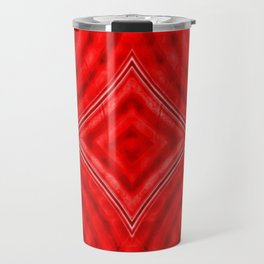 Red Alert - red white diamond circle pattern Travel Mug
