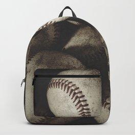 Grungy Baseballs on a Shelf Backpack