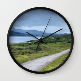 Road in the Highlands Wall Clock