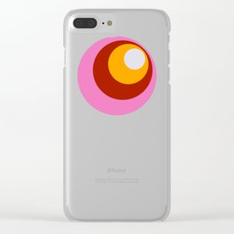 Classic Retro Design Dots #1 Clear iPhone Case