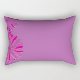 Flowers on purple background Rectangular Pillow