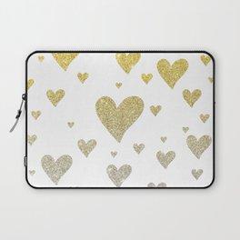 Glitter Hearts Laptop Sleeve