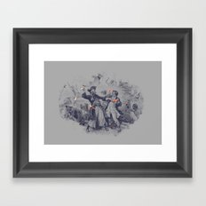 Epic Battle Framed Art Print
