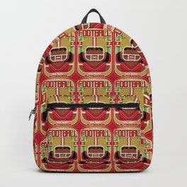 American Football Red and Gold - Hail-Mary Blitzsacker - Aretha version Backpack