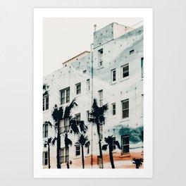 palm mural venice i Art Print