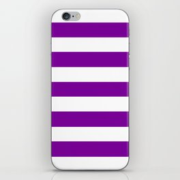 Yahoo Purple (1995) - solid color - white stripes pattern iPhone Skin