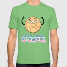 EVERYTHING'S W-AWFUL - STEVEN UNIVERSE - CRYING BREAKFAST FRIENDS Mens Fitted Tee MEDIUM Grass
