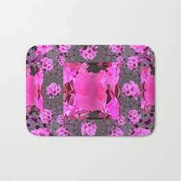 Rose Pink Rubies Gemstone July Birthstone Art Bath Mat
