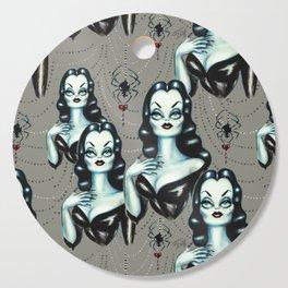 Vampire Vixen with Black Widow Spider Cutting Board