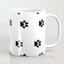Cat Paws - Cat Lovers Unite! Black and White Cat Art Coffee Mug