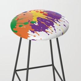 Colourful Paint splash Bar Stool
