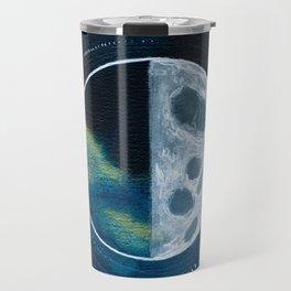 Quarter Moon Original Mixed Media Painting Travel Mug