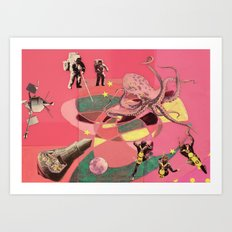outer space meanderings Art Print