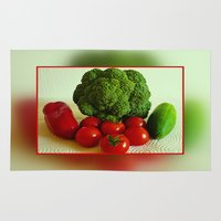 vegetables Area & Throw Rugs featuring Fresh Vegetables by Art-Motiva