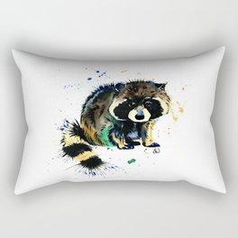 Raccoon - Splat Rectangular Pillow