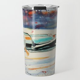 Airplane lost in the snow Travel Mug