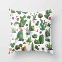 Succulent Cacti Throw Pillow