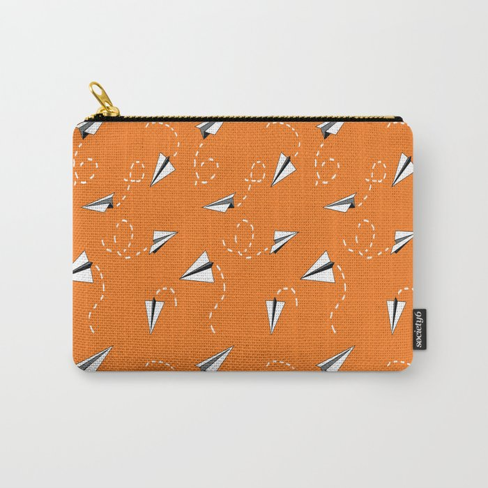 Trouble Maker in Orange Carry-All Pouch
