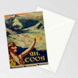 vintage placard Mount Cook Stationery Cards