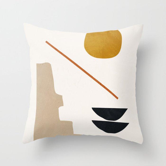abstract minimal 6 Throw Pillow