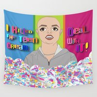 britney spears Wall Tapestries featuring Britney Killed The Teen Dream. Deal With It! by Peter Marsh