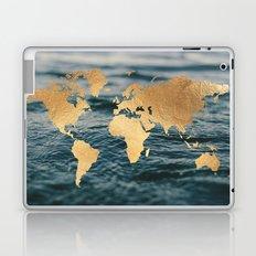 Gold Map in Water Laptop & iPad Skin
