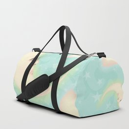Lady Moons and Stars Pattern Duffle Bag