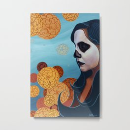 Marigolds, Day of the Dead (Dia de los Muertos) Metal Print