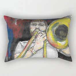Jazz Trombone 2 Rectangular Pillow